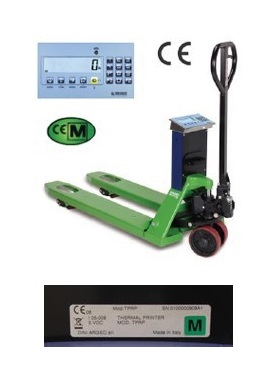 Ručni paletni viličar sa Vagom 1 kg / Dini argeo / TPWL